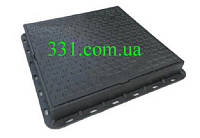 Люк пластмасовий квадратний 680х680х80  (чорний)