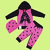 Детский спортивный костюм для девочки на 1 год, 2 года, 3 года, 5 лет