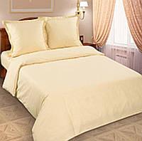 Бежевое двуспальное постельное белье бязь-голд