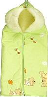 Конверт-трансформер для новорожденного ТМ Руно (конверт-одеяло, овчина) Салатовый 921.02ОУ
