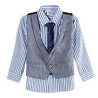 Нарядная рубашка с жилетом и галстуком для мальчика