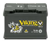 Аккумулятор Viking 74 Ah/12V (750) -+ Evro Silver Украина