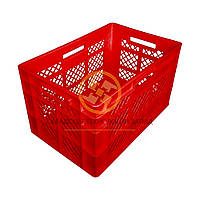 Пластиковые ящики под овощи 600x400x350 Красный