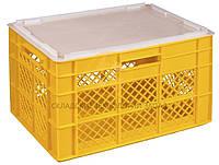 Пластиковые ящики под овощи 600x400x350 Желтый