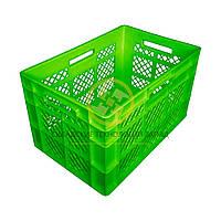 Пластиковые ящики под овощи 600x400x350 Зеленый