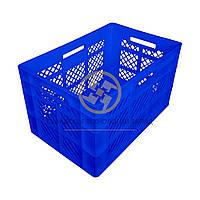 Пластиковые ящики под овощи 600x400x350 Синий