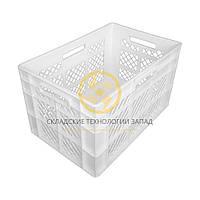 Пластиковые ящики под овощи 600x400x350 Белый