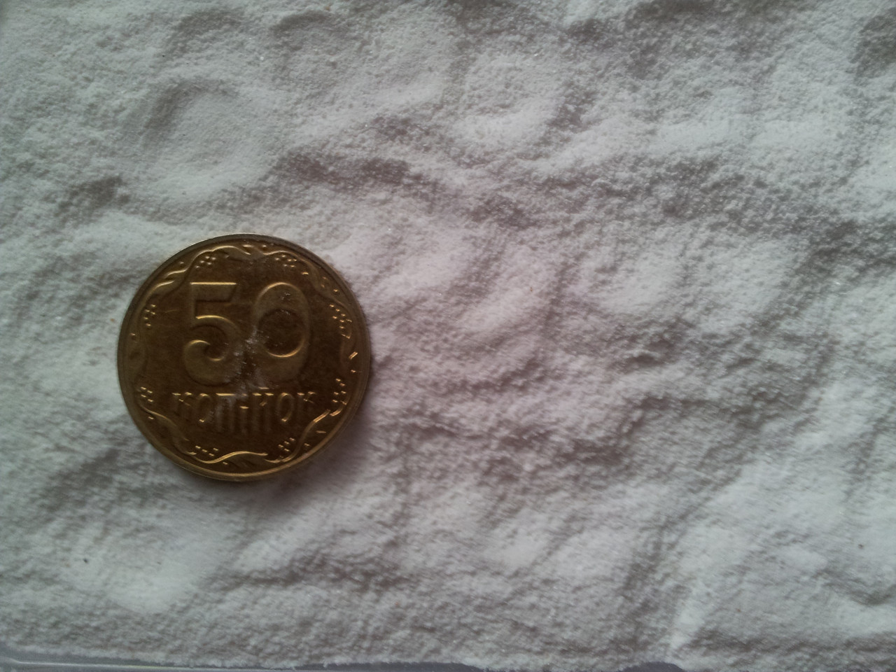 Мраморная крошка белая Nigtas М1 (0,0-0,2 мм) 2 кг