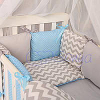 Комплект Baby Design зигзаг серо-голубой