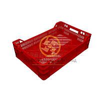 Ящики пластиковые под овощи 600х400х160/120 Красный