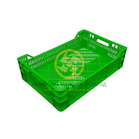 Ящики пластиковые под овощи 600х400х160/120 Зеленый