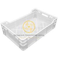 Ящики пластиковые под овощи 600х400х160/120 Белый