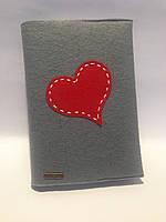 Ежедневник подарочный в фетровой обложке