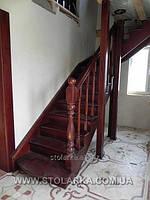 Производство  и установка лестниц деревянных маршевых