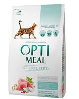 Сухой корм Optimeal (Оптимил) для стерилизованых кошек (ИНДЕЙКА) 10 кг