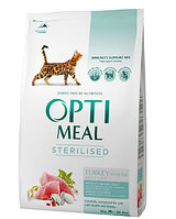 Сухой корм Optimeal sterilised (Оптимил) для стерилизованых кошек (ИНДЕЙКА) 10 кг