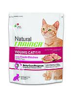 Trainer Natural Young Cat корм для кошек от 7 до 12 месяцев с курицей и индейкой, 1,5 кг