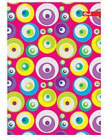 Тетрадь А5 80л. обложка ПВХ глянцевая, цветная, блок офсет имп. 60г/м2, клетка  МИКС, ТП-59