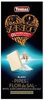 Белый шоколад TORRAS ZERO BLANCO PIPAS y FLOR de SAL 125g