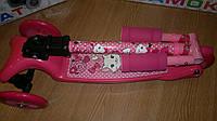 Трехколесный самокат BB3-016-2 со складной ручкой Mini Micro розовый