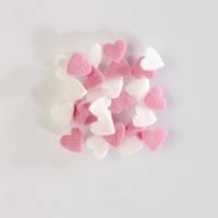 Конфетті цукрові сердечка рожево-білі 0.25 кг/упаковка
