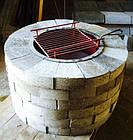 Уличный очаг, садовый камин-мангал каменный круглый, фото 4