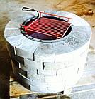 Уличный очаг, садовый камин-мангал каменный круглый, фото 5