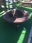 Костровой стол (уличный очаг, садовый камин мангал) круглый, фото 3