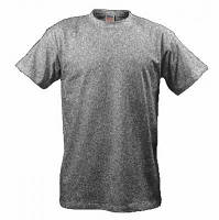 Тёмно серая мужская футболка 100% хлопок однотонная ФМ-2618