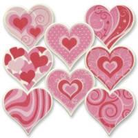 Цукрове серце з візерунком 12 шт /упаковка