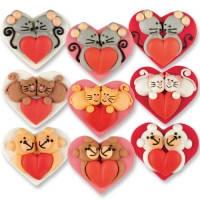 Марципанової серце з візерунком 36 шт /упаковка