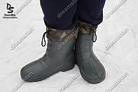 Мужские зимние галоши Гп-05 мех зел