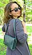 Кожаная женская темно-зеленая сумка Babak 877077, фото 2