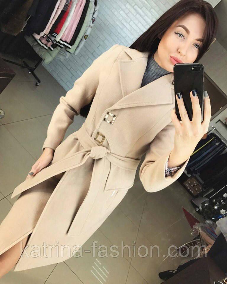 Женское стильное демисезонное пальто отличного качества (4 цвета)