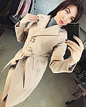 Женское стильное демисезонное пальто отличного качества (4 цвета), фото 2