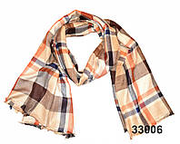 Купить шарф женский в клетку коричневый