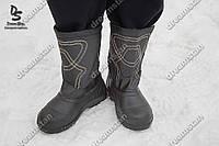 Сапоги зимние дутики черные ( Код : БМ-08)