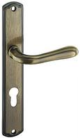 Дверная ручка на планке CETUS PZ T-857-172 72 G10 шлифованная старая латунь Nomet