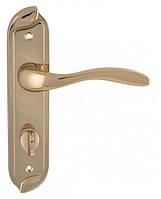 Дверная ручка на планке Venice WC Z025K 90 90 (межцентр 62 мм) темное золото Siba