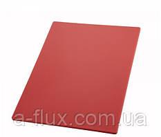 Доска разделочная пластиковая красная 450*300*13 мм