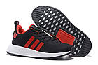 Мужские кроссовки Adidas NMD R2 PK Black/Red (в стиле Адидас НМД) черные с красным, фото 2