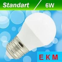 Светодиодная лампа Biom BT-563 G45 6W E27 3000 К