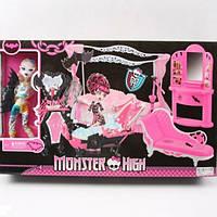Кукла Монстер Хай Monster High с набором мебели (ванная комната)
