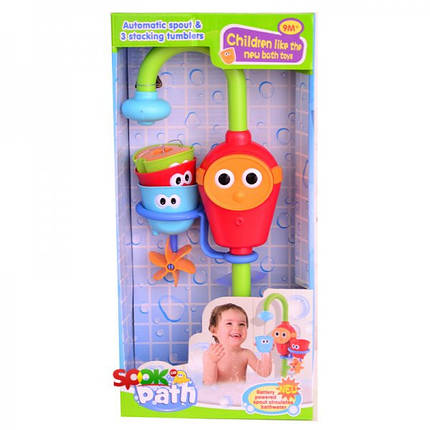 Водопад D 40116, игрушка для ванной, 36,5 см, на батарейке, 3 емкости., фото 2