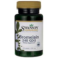 Бромелайн Bromelain 240 GDU натуральный из ананаса 200 мг 100 табл