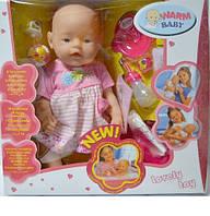 Пупс типа Baby Born с аксессуарами 058-15/17/19 Беби Берн