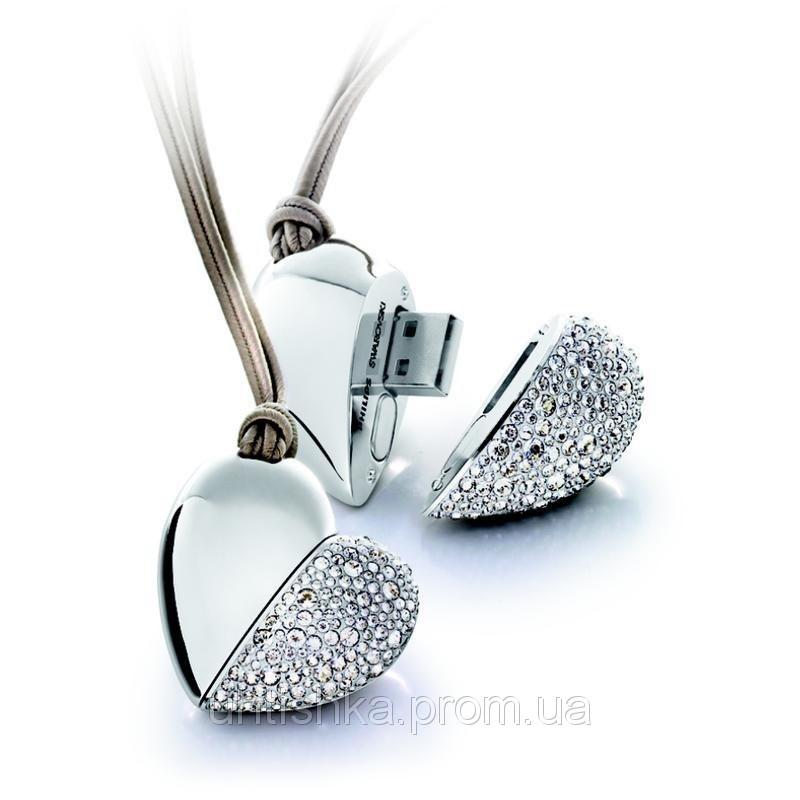 Флешка Бриллиантовое Сердце 8 гб