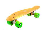 Детский скейт пенни борд 780 желтый длина доски 55см колёса pu d=6см