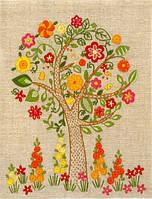 Набор для вышивания нитками Цветущее дерево НКШ-4004