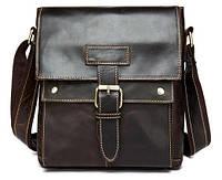 Добротная мужская кожаная сумка BEXHILL цвета шоколад